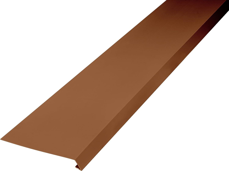 einseitig gekantet Kunststoff Regenrinne 200 cm INEFA Dachstreifen Dachrinne