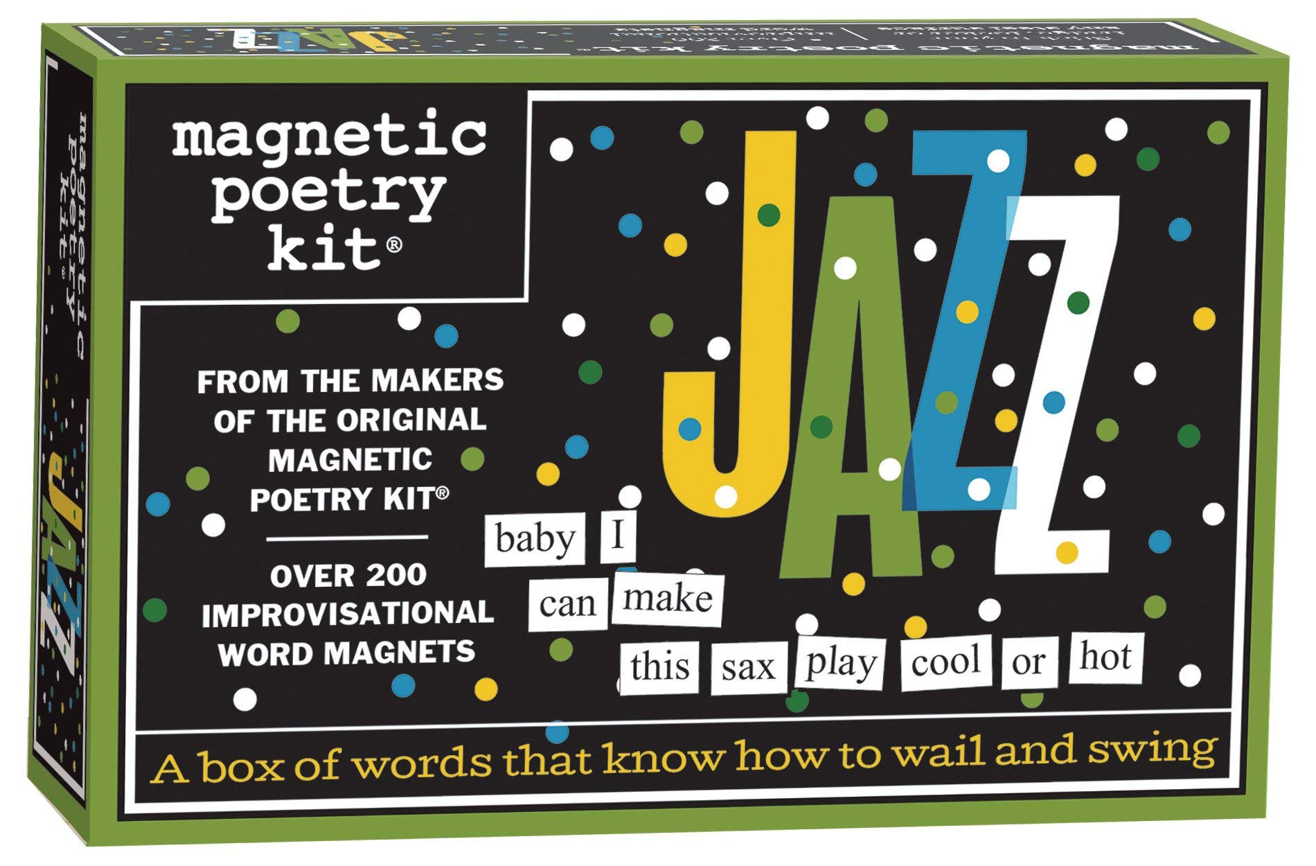 Magnetic Poetry - Jazz Kit - Words for Refrigerator - Write Poems and Letters on The Fridge - Made in The USA