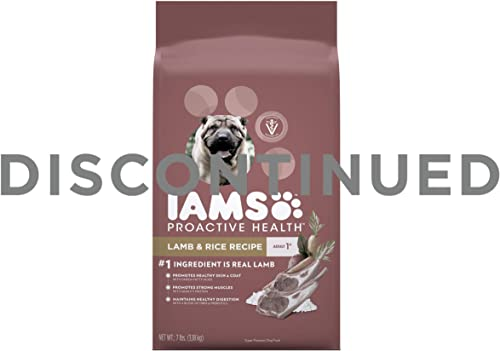 DISCONTINUED BY MANUFACTURER Iams Dry Dog Food Lamb and Rice Proactive Health Food for Dogs, 7.0 lb