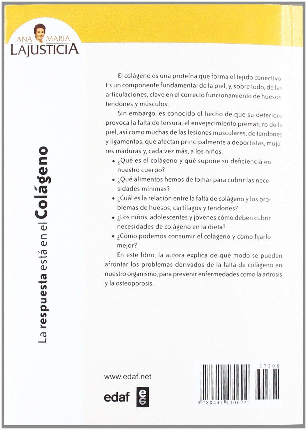 La respuesta está en el colágeno (Plus Vitae): Amazon.es: Ana María Lajusticia Bergasa: Libros