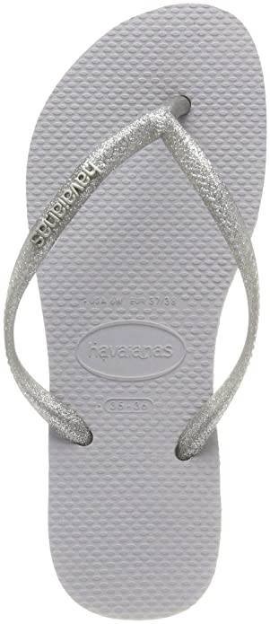 a494d81567ee78 Havaianas Women s Slim Logo Metallic Flip Flops  Amazon.co.uk  Shoes ...