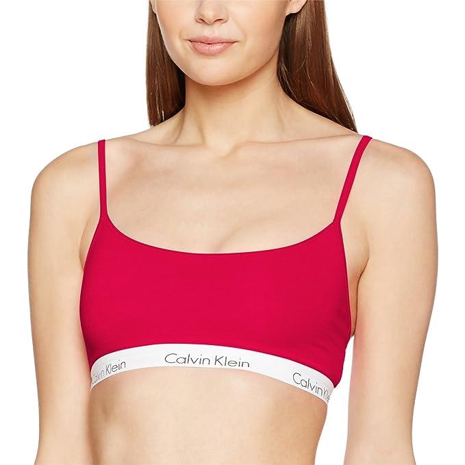 Calvin Klein Sujetador Estilo Bralette para Mujer, Rojo (Empower), 32A (Talla