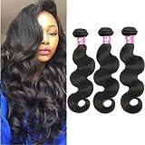 CGG Paquets de cheveux vierges brésiliens ondulés, extensions de cheveux brésiliens non traités à couleur naturelle.