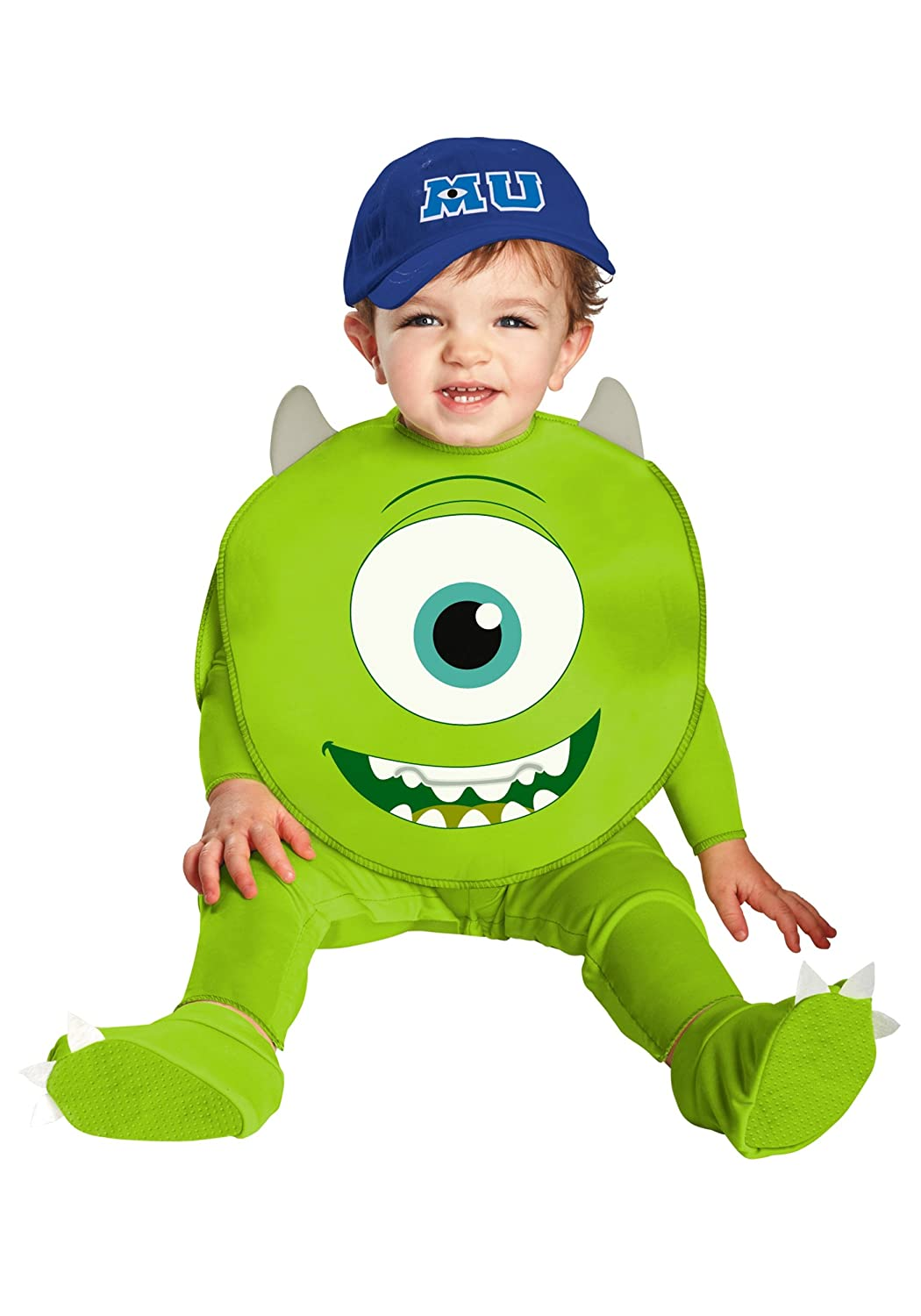 Amazon Com Disguise Costumes Disney Pixar Monsters University Mike Classic Infant Green White Blue 6 12 Months Clothing