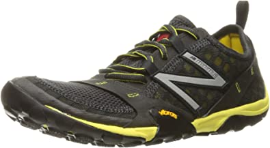 New Balance Mens MT10V1 Trail Running Shoe, Grey/Yellow, 7 2E US: Amazon.es: Zapatos y complementos