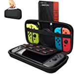GOMILE Nintendo Switch Accessories Carrying Case EVA Protective Hard Shell Organizer Storage Bag for Joycon Grip...