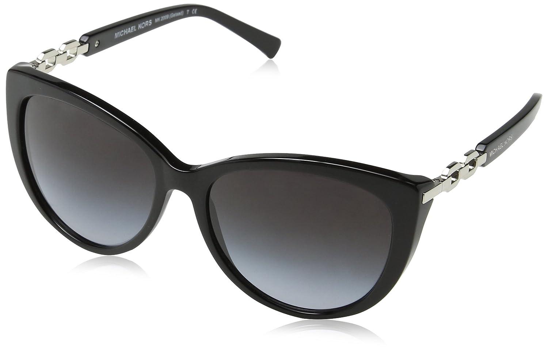 Michael Kors Damen Sonnenbrille MK2009 Gstaad, Schwarz (Black 3005T3), One size (Herstellergröße: 56)