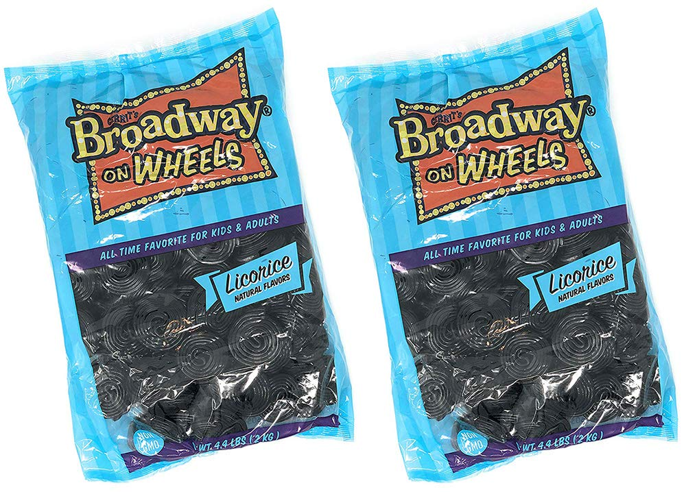 Italian Black Licorice Wheels | Bulk Candy | Natural Colors and Flavors, GMO Free | 8.8 Pounds