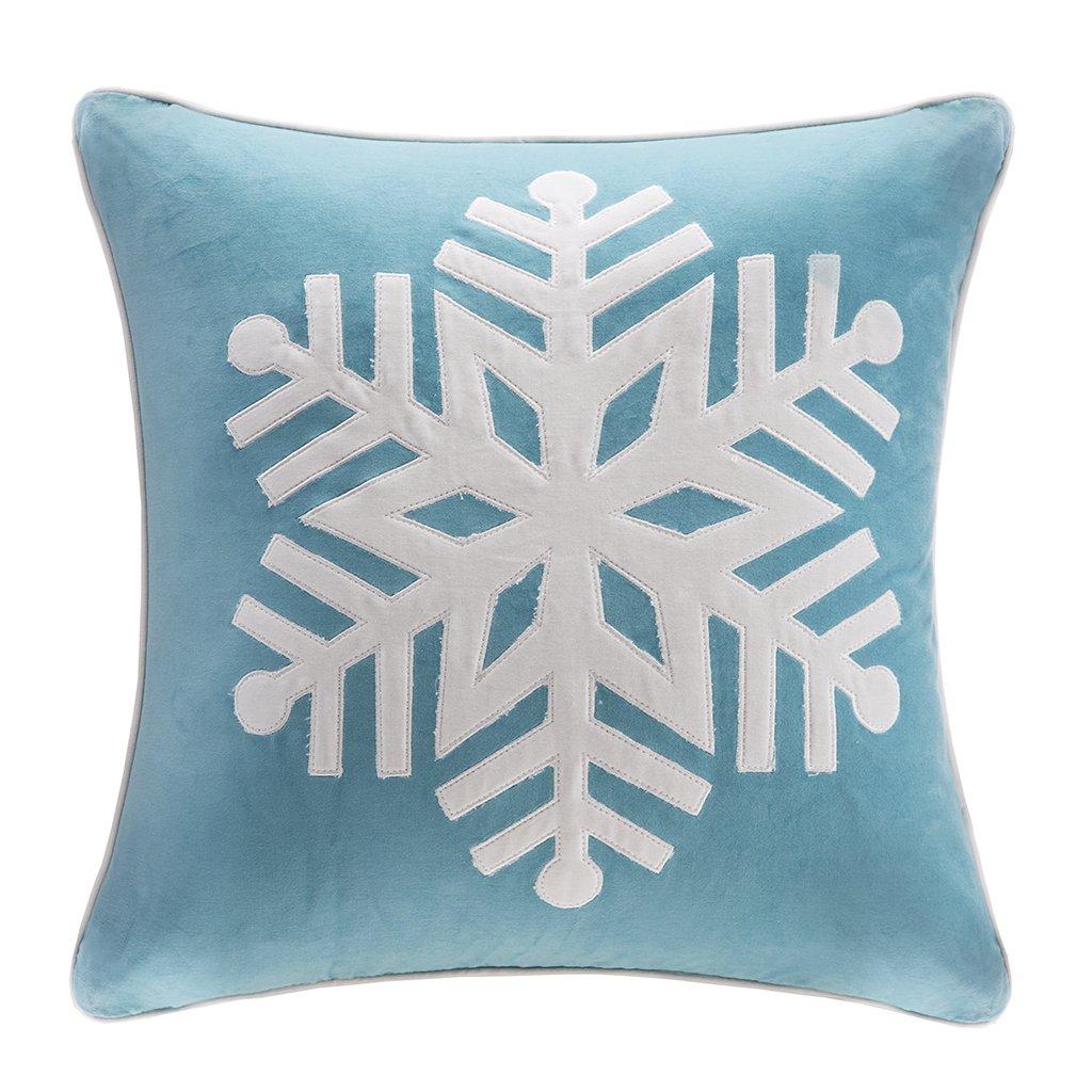 Madison Park Velvet Snowflake Square Pillow Grey 20x20 E/&E Co Ltd DBA JLA Home MP30-1166