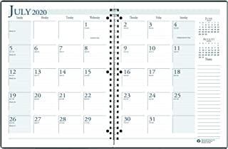 product image for House of Doolittle 2020-2021 Monthly Planner, Academic, Bright Blue, 8.5 x 11 Inches, July - August (HOD26308-21)
