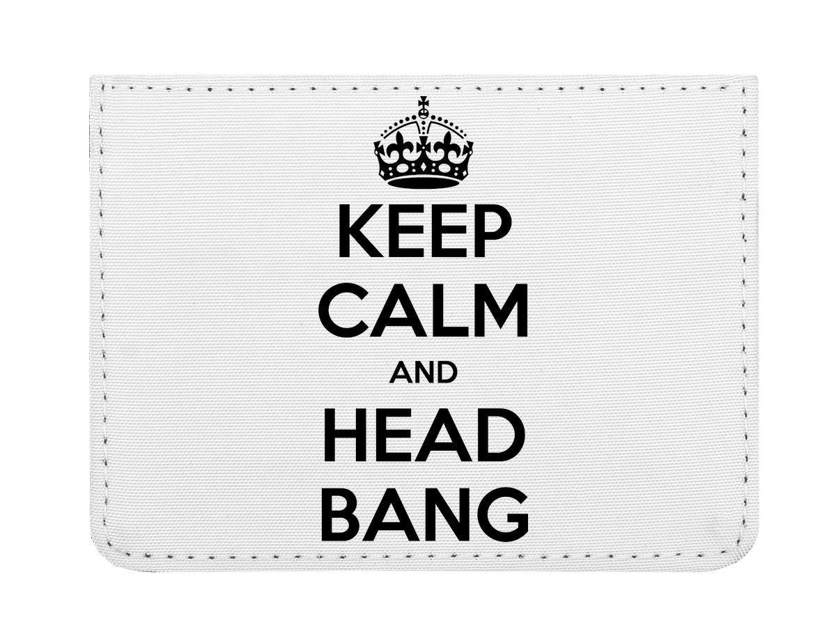 Keep Calm and Head Bang Étui pour Cartes de crédit de Poche