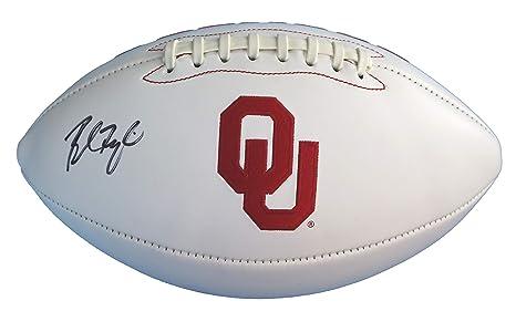 Baker Mayfield Oklahoma Sooners Signed Autographed White Panel Logo Football e2b0c003b