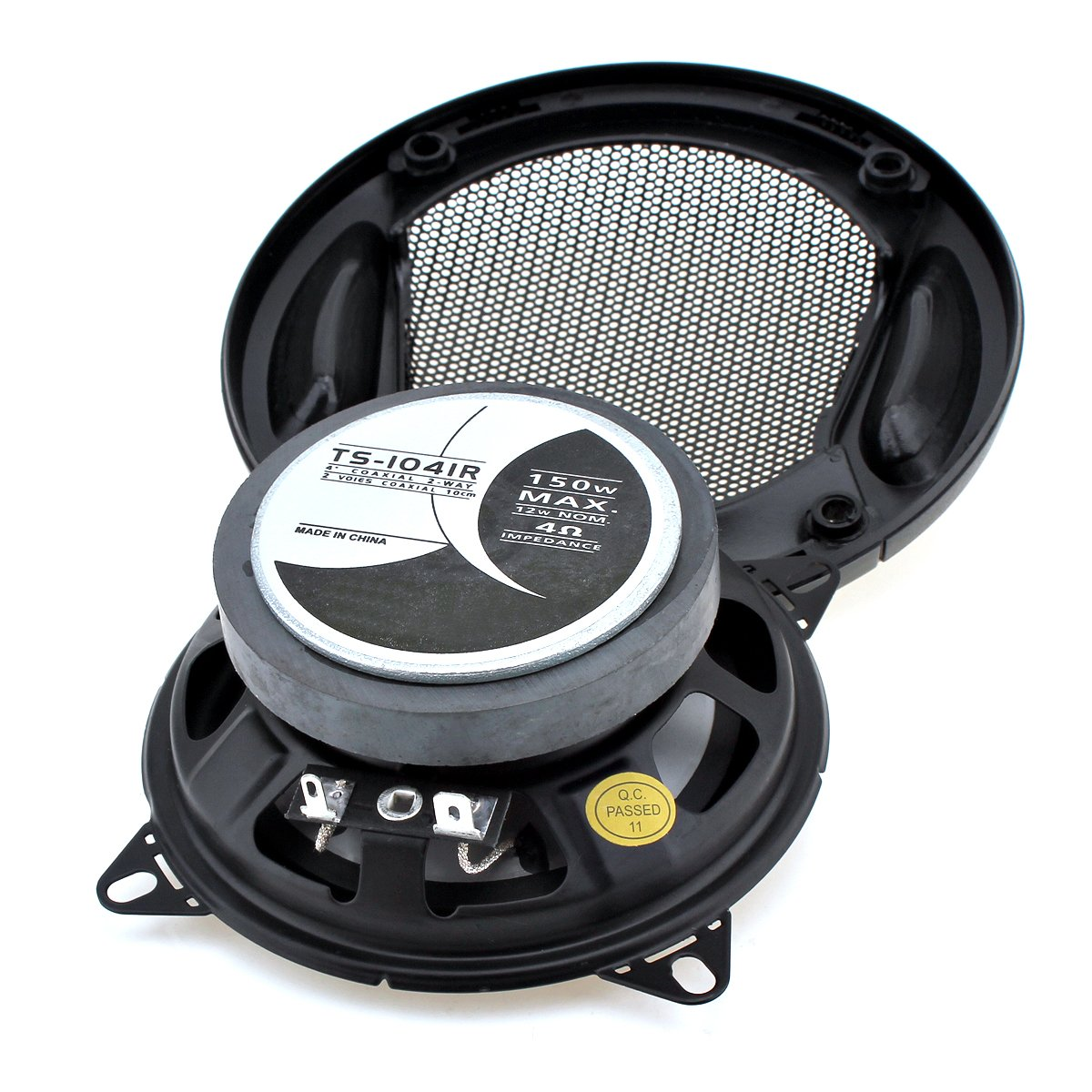 ePathChina 2 x 150W 4Inch Car Coaxial Music Stereo Audio Tweeter Speaker 2-Cone SubWoofer