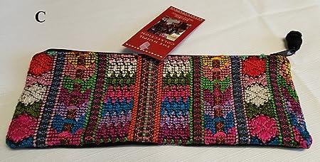 Bambú Trading Company Huipil Pencil Pouch, hecho a mano en Guatemala, elección de estilo: Amazon.es: Oficina y papelería