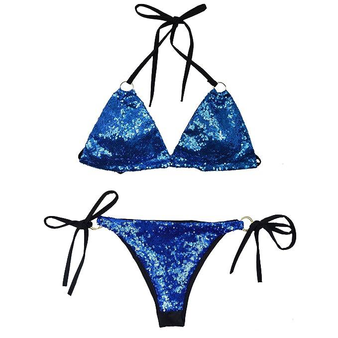 Sexy sequin bikini
