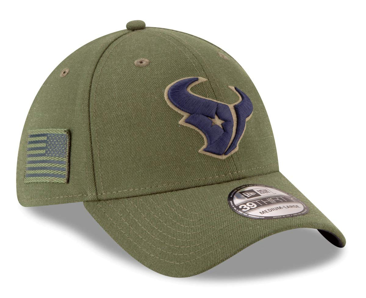 05af3f0e Amazon.com : New Era Mens NFL 2018 Salute to Service 39Thirty Flex Fit Hat  : Clothing