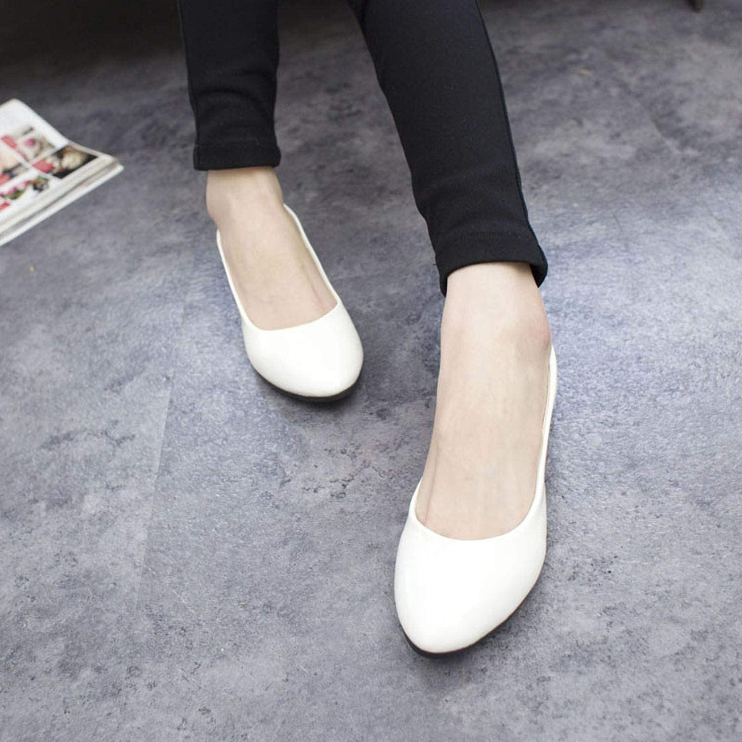 Big Size 35-42 Casual Women Flat Shoes Suede Comfortable Shallow Flat Female Single Shoes Woman Flat Shoes Hot New,Pink,8