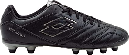 2d1264e0bfa3 Amazon.com: Lotto Men's Stadio 300 II FG Soccer Cleats(Black/Grey,13 ...