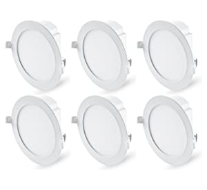 """Hyperikon 6"""" Recessed LED Downlight with Junction Box, Dimmable, 11.6W (65W Equivalent), Slim Retrofit Airtight Downlight, 4000K (Daylight Glow), Energy Star, UL - for Dry/Damp Locations (6 Pack)"""