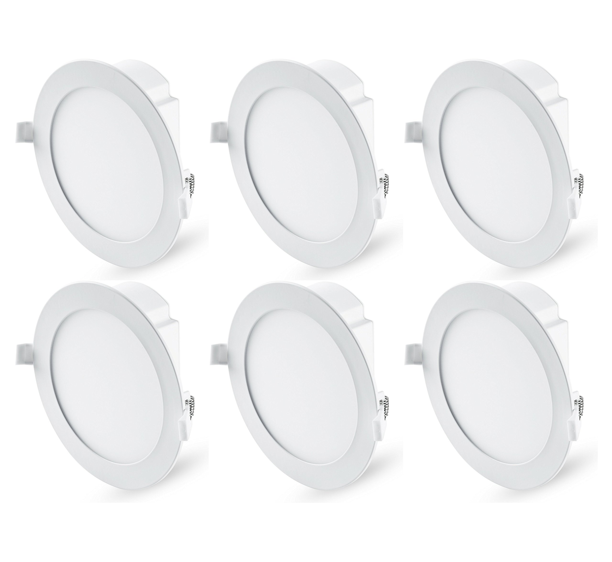 Hyperikon 6 Inch LED Recessed Lights with Junction Box, 65 Watt (11.6W), Dimmable Downlight, 4000K Daylight, 6 Pack