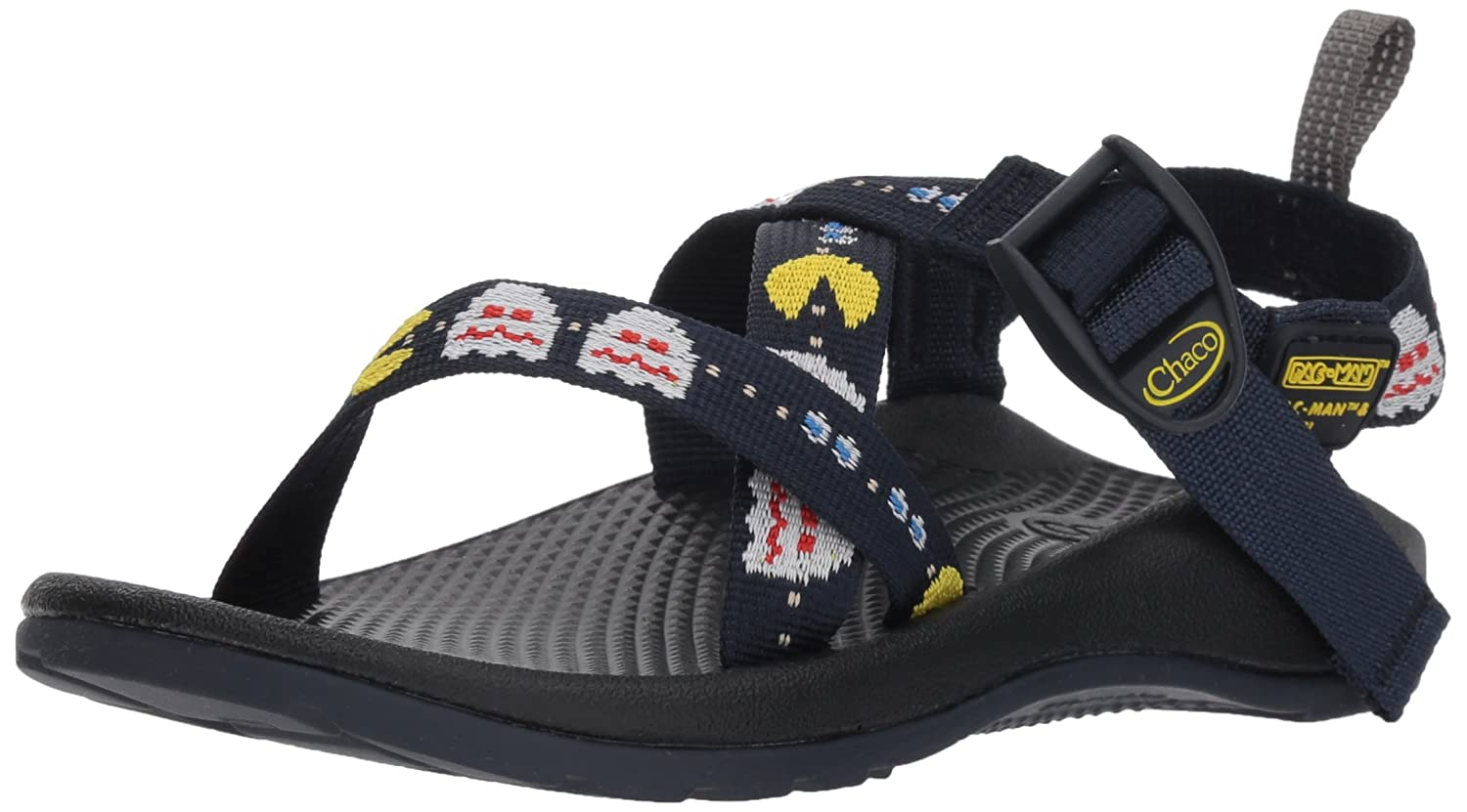 Chaco Kids Z1 Ecotread Size 1,3,4,5 US Pac-Man Scaredy Ghosts Sandals