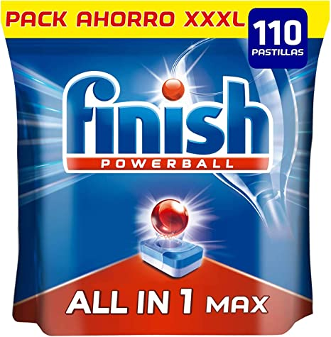 Finish Powerball All in 1 Max - Pastillas para el lavavajillas ...