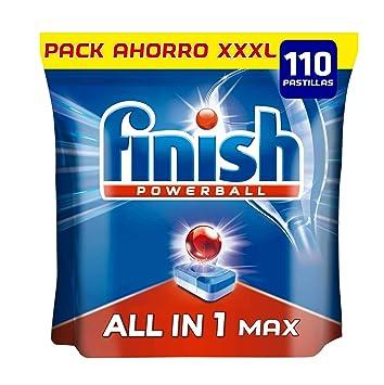 Finish Todo en 1 Max Regular Pastillas para Lavavajillas - 110 ...