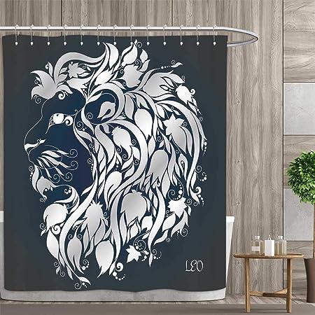 Anniutwo Zodiac Virgo - Cortina de Ducha con diseño de alas de ...