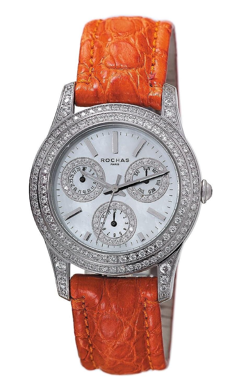 [ロシャス パリ]ROCHAS PARIS 腕時計 RJ71 RH9046MWSO-S シルバー/オレンジ キラキラ レディース [正規輸入品] [時計] B00NOMSKH6