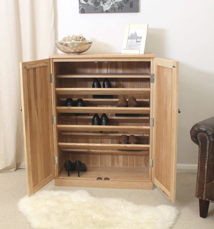 mobel oak large shoe cupboard amazoncouk kitchen  home -