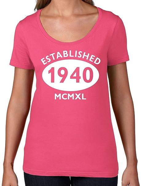 Amazon com: Established 1940 Roman Numerals - 77th Birthday
