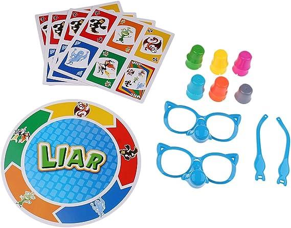 D DOLITY Juego de Verdad Mentiroso Bluffing Niño Familia Juegos Divertidos: Amazon.es: Juguetes y juegos