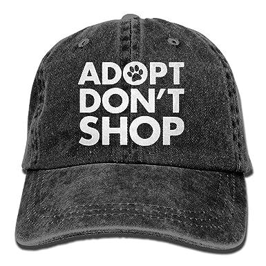 Presock Gorras De Béisbol Adopt Dont Shop Dog Paw Vintage Cowboy ...
