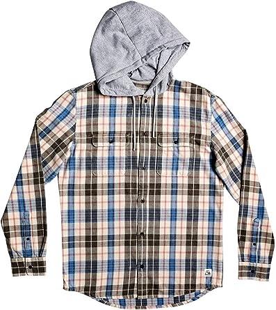 Quiksilver Mitta Tang - Camisa de Franela con Capucha para Hombre: Amazon.es: Ropa y accesorios