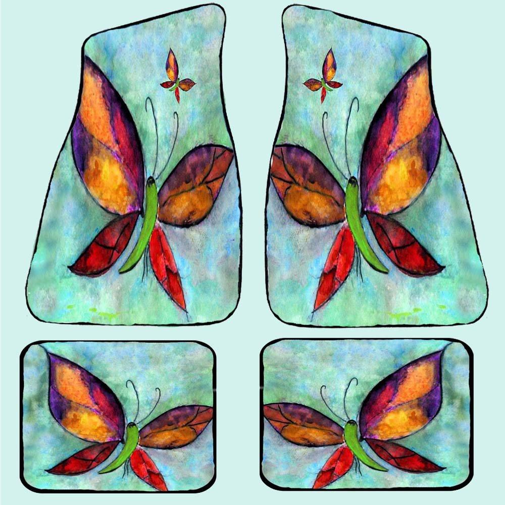 Butterflies Car Floor Mats (Full set of 4)