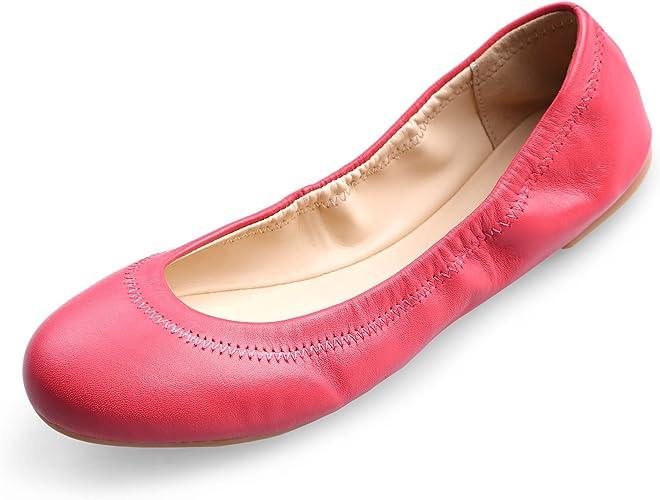 Chaussures Gymnastique Femme Fille Chaussures de Danse Souliers en Vache Femme Fille Sandales Ballerines Fille