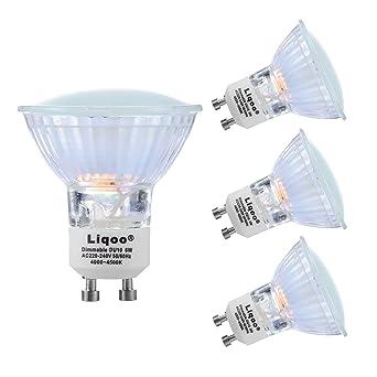 Lampe Light À Dimmable Downlight Smds Incandescence 4500k 10 Equivalente Spot 480lm Liqoo® X Neutre 120° Led Eclairage 2835 Gu10 4 Blanc 6w Ampoule zVMpSU