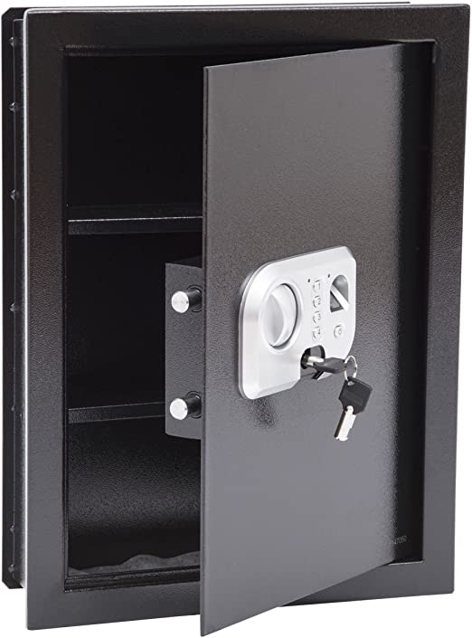 Key Locking Safe Box Durable Strong High Security Steel Safe Box in Home Office for Money Cash Safe Estink