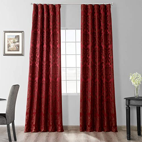 HPD Half Price Drapes JQCH-201268-120 Designer Damask Curtain 1 Panel