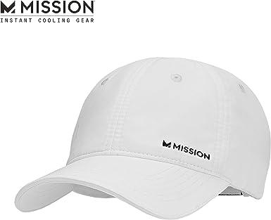 MISSION Running Cap Gorra, Unisex, Blanca, Talla Única: Amazon.es ...