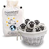 Organic Eco Wool Dryer Balls - 6 Pack - 100% Handmade, Fair Trade, Organic, No Lint - Premium Quality