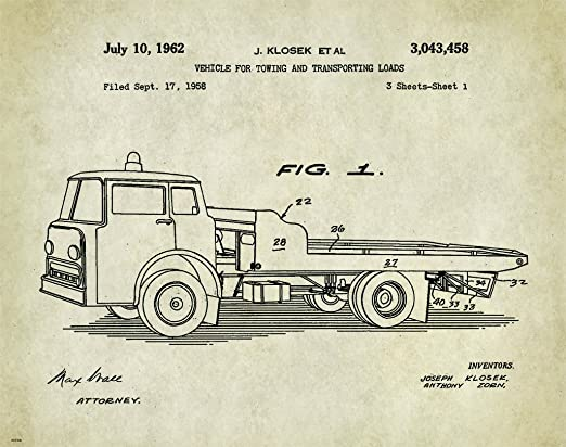 Tow Truck Poster Print Wrecker Driver Gifts Truck Driver Towing Service