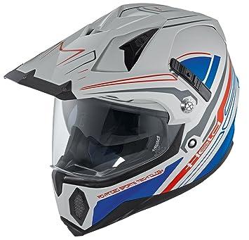 Held Makan Dekor Enduro casco gris y azul Talla:large