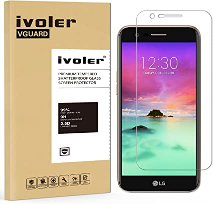ivoler Protector de Pantalla para LG K10 2017, Cristal Vidrio ...