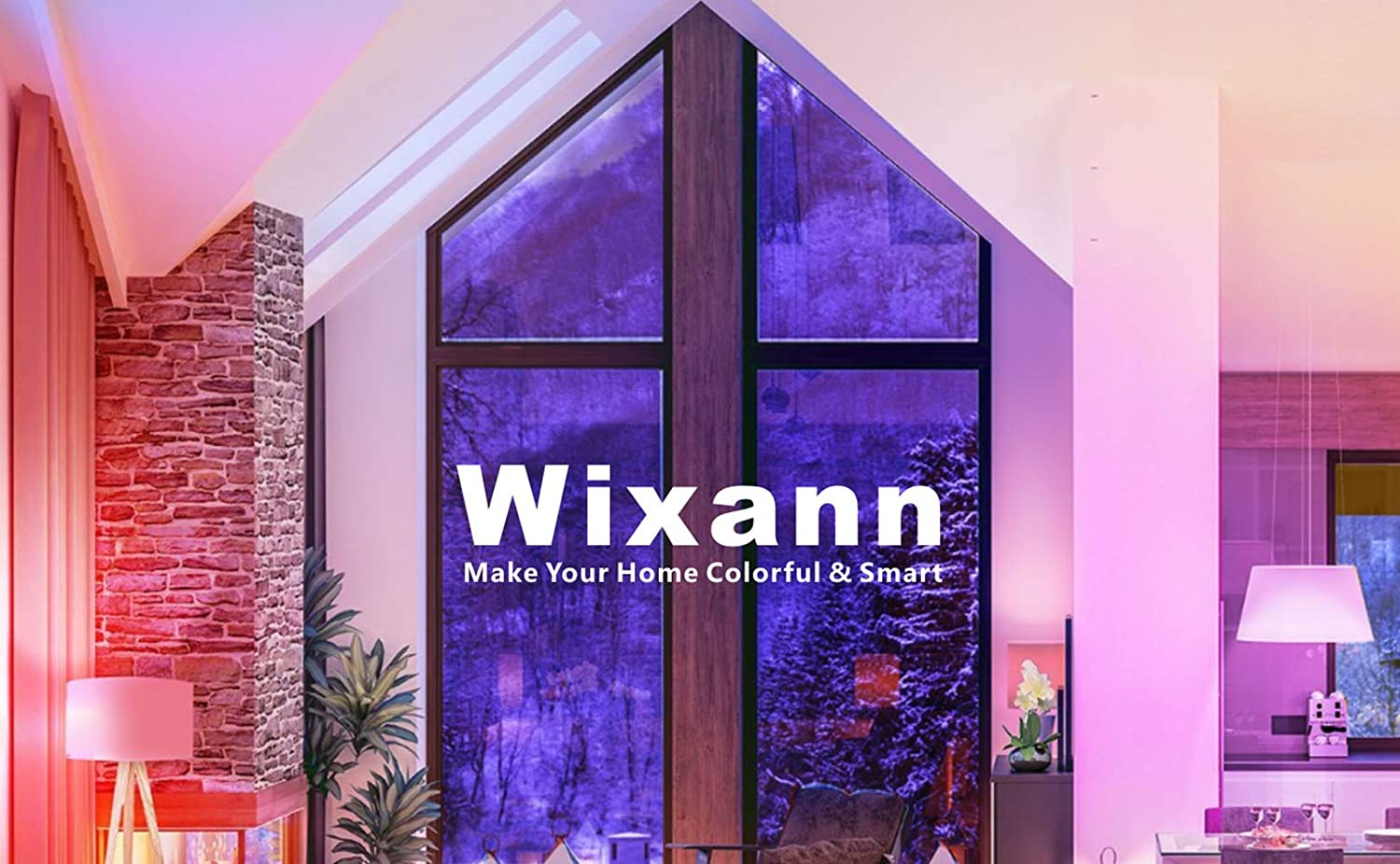 E26 60W Replacement A19 2-Pack Wixann Smart Wi-Fi Light Bulb Compatible with Alexa and Google Home Assistant 7W Dimmable RGBCW Color Changing LED Bulb IFTTT /& Siri Compatible No Hub Required