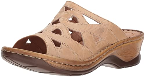 56c0b98f4015b Josef Seibel Women's Catalonia 44 Wedge Sandal, Beige, 36 Medium US