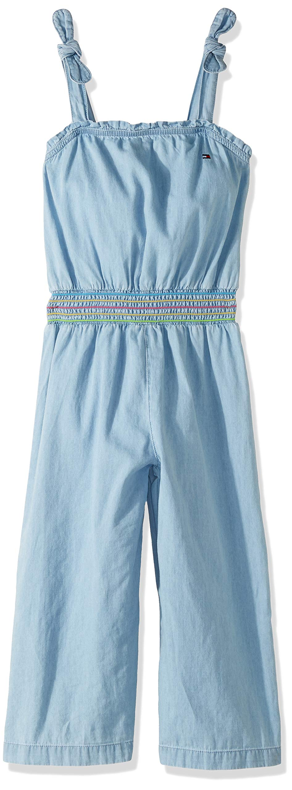 Tommy Hilfiger Big Girl's Big Girls' Fashion Jumpsuit Shorts, denim bowery, S7 by Tommy Hilfiger (Image #1)