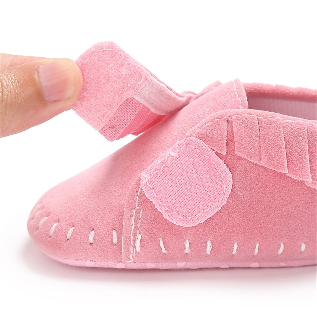 Baby Girls Suede Tassel Moccasins Loafer Flats Newborn Soft Sole Crib Shoes