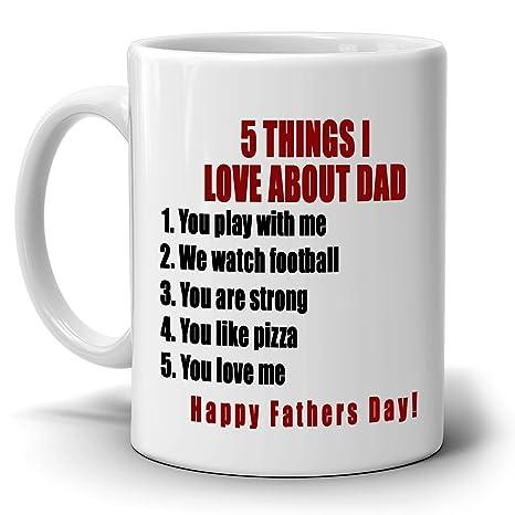 Amazon.com: 5 cosas I Love acerca de Dad Cool día del padre ...