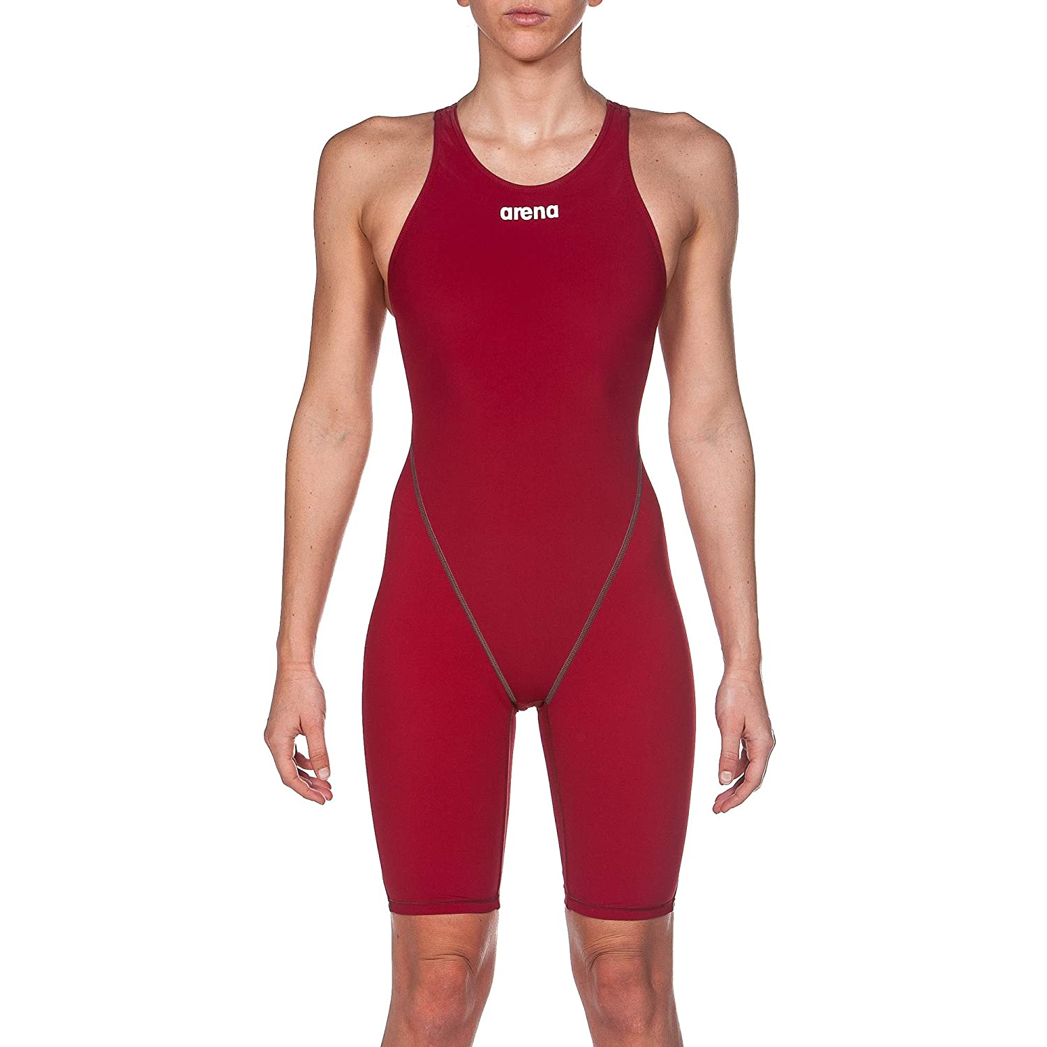Deep Red arena Powerskin ST 2.0 Women's One Piece Open Back Racing Swimsuit